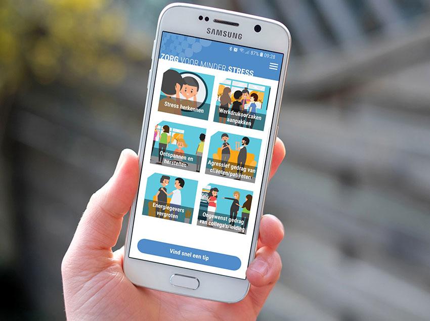 TIP: Zorg voor minder stress – app